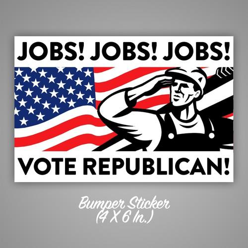 Flag and bumper sticker