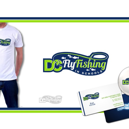 logo for DC Fly Fishing in Schools