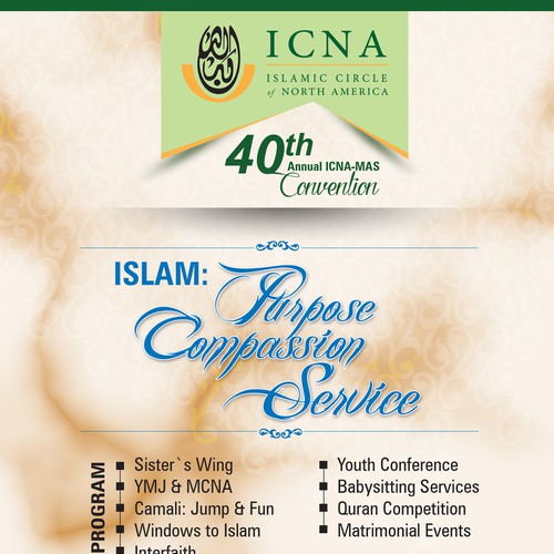 40th Annual ICNA-MAS Convention Flyer and Poster Design
