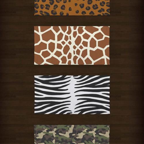 safari collection terry towel