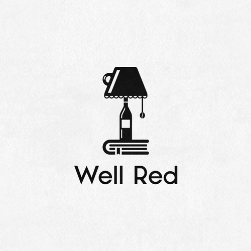 Logo for coffee shop/bookstore/wine bar
