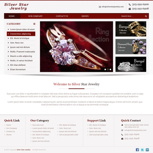 Create a stunning website for Native American / Southwern Jewelry manufacturer Silver Star