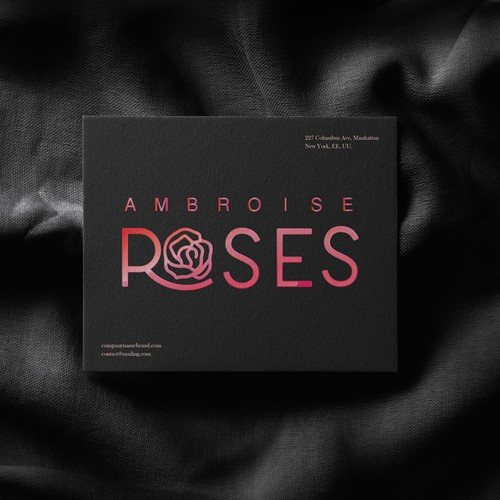 Logo design for gift shop Ambroise Roses