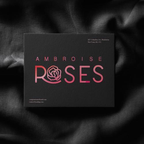 Logo design for gift shop Ambroise Roses