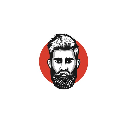 Bearded men logo designs concept