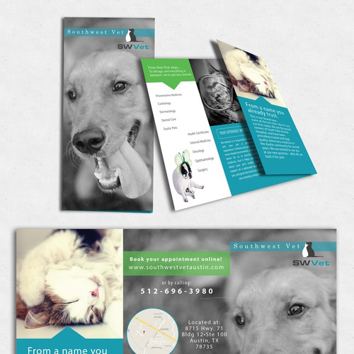 Tri-fold Brochure for Veterinary Practice
