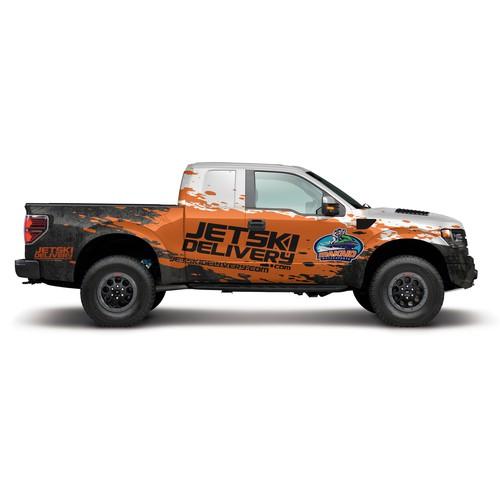 ford raptor wrap for jetski delivery.com
