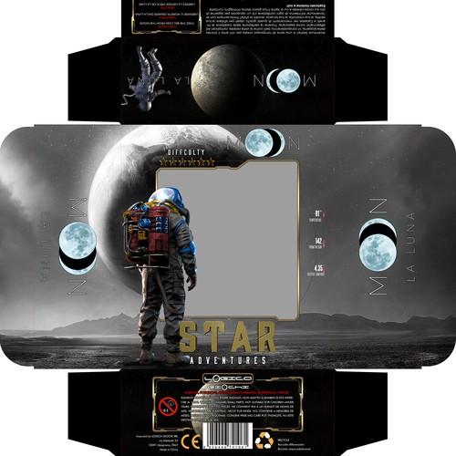 Star Adventures Puzzles Packaging design