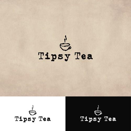 Design a unique, clean logo for the boba tea shop TIPSY TEA