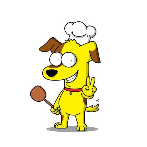 Chef Dog Mascot