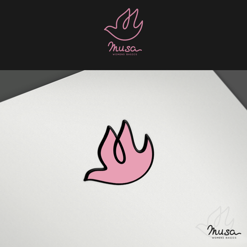 Create a UNIQUE logo for women apparel company.