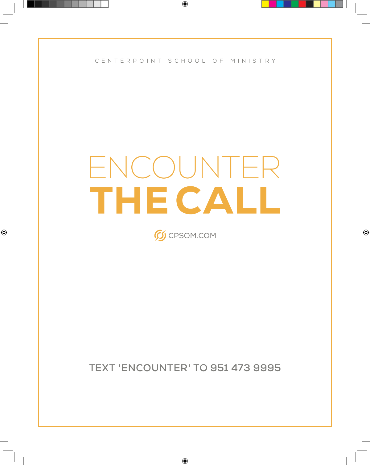 "New brochure ""Encounter the call 2020"""