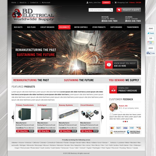 New website design wanted for BD Electrical