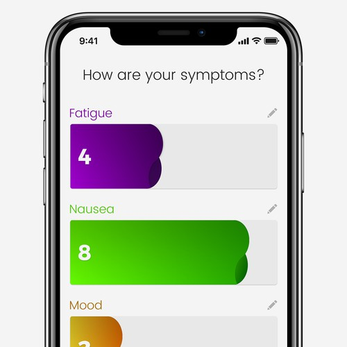 Symptom Magnitude Level Input
