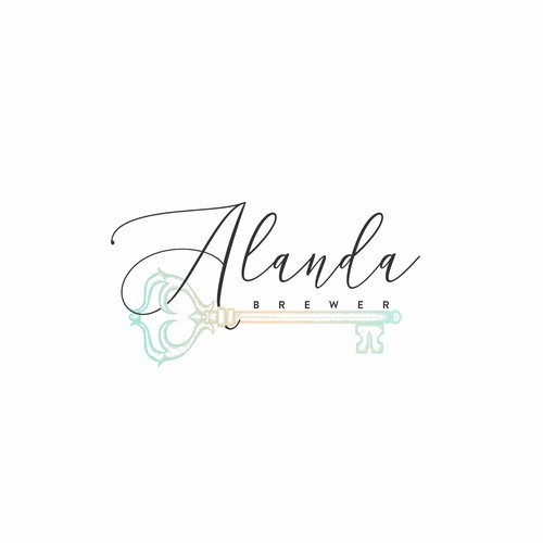 Organic yet luxury logo for Alanda Brewer.