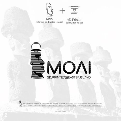 Moai 🗿 3D_printed_on_Easter_Island