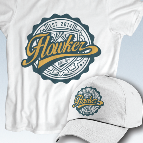 Create a logo for American fashion brand for university Flowker!