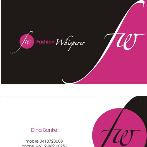 Fashion Whisperer logo and Business Card