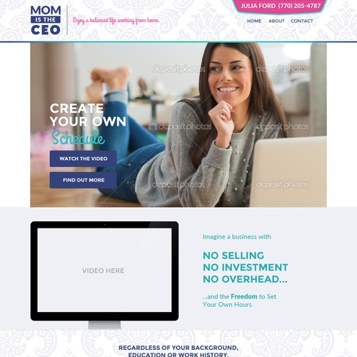 Landing Page Design - Attractive to Women