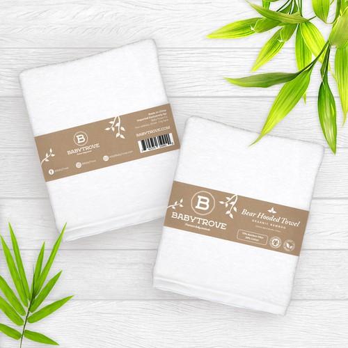 Minimalist Label design for Baby Trove Premium Baby Product.