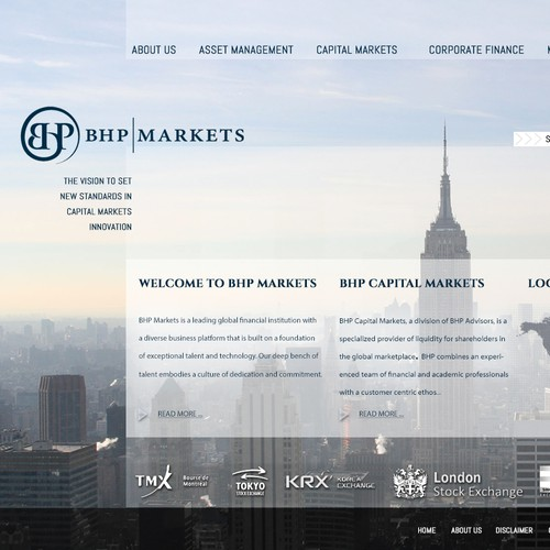 BHP Markets needs a new website design