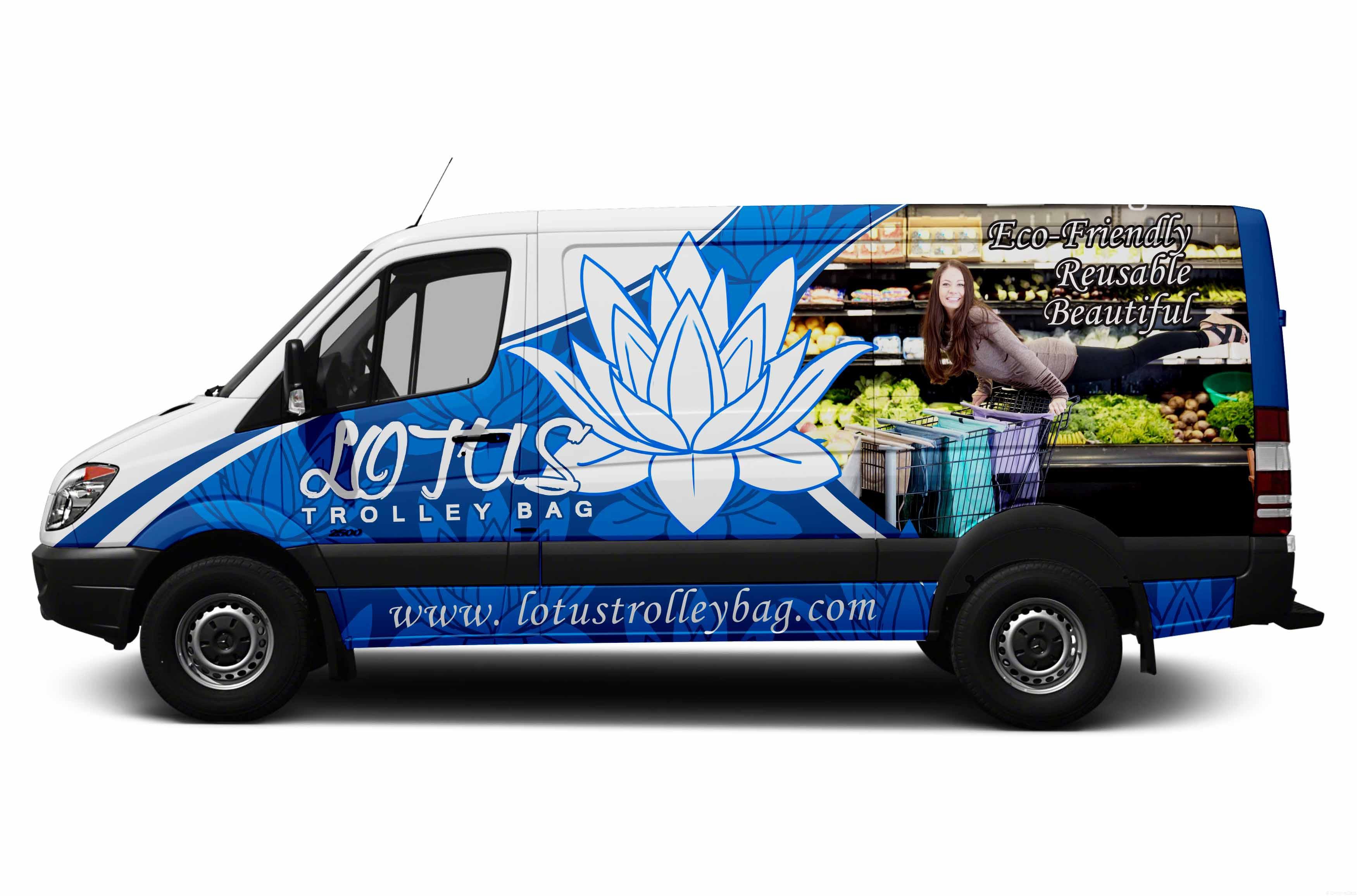 Sprinter Van Wrap - zen, eco-friendly design for Lotus Trolley Bags