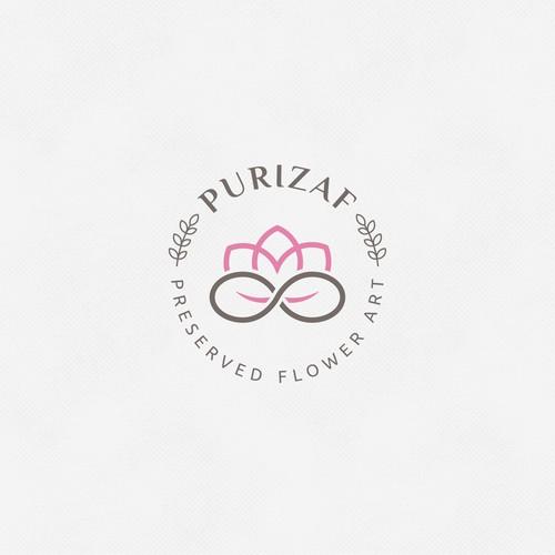 Logo for preserved flower shop