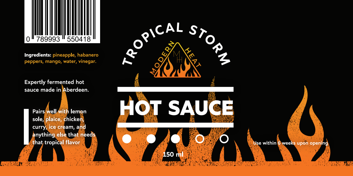 Hot Sauce labels