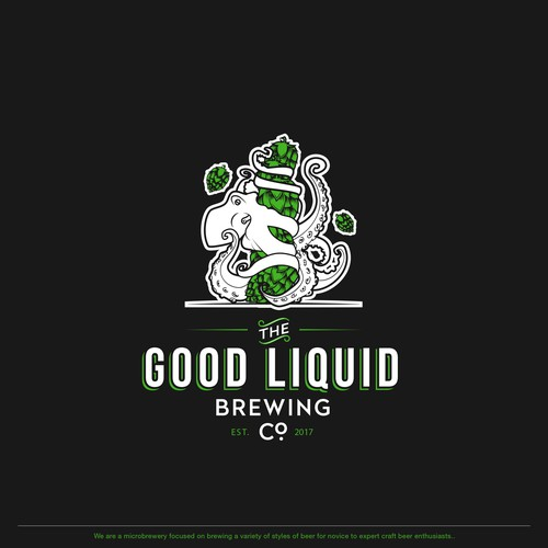 Illustrative logo for brewing company