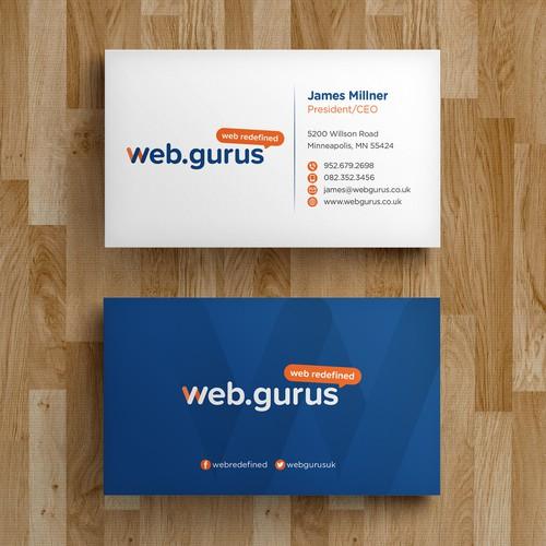 Create a business card design for digital marketing company