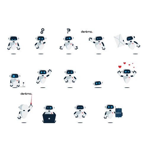 friendly robot assistant for dentma.
