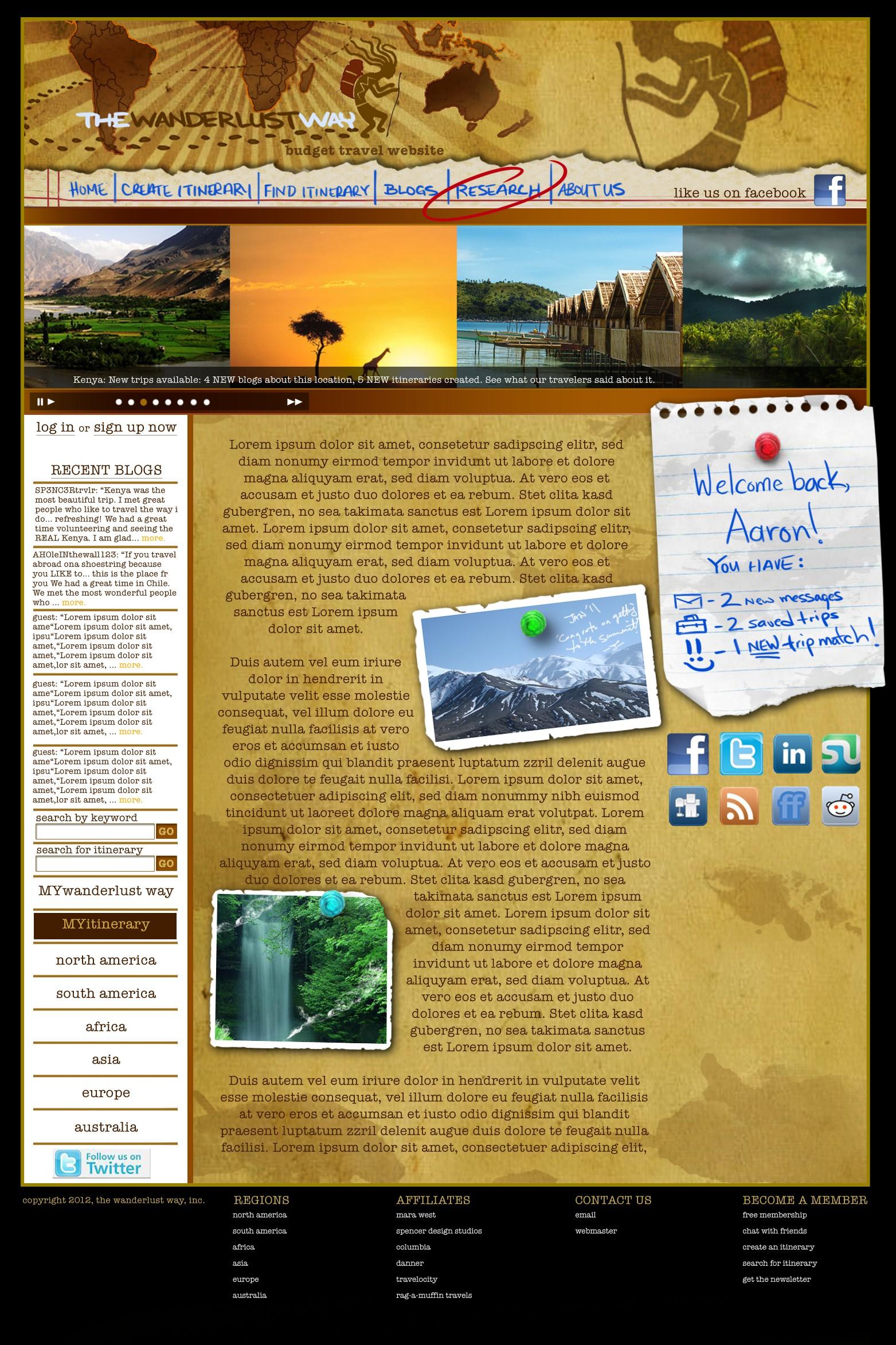 The Wanderlust Way adventure travel website