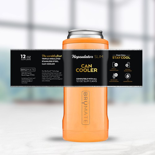 Packaging Label Wrap for Drinkware Brand