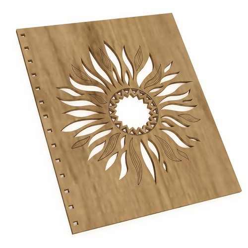 Design for a wooden cover.