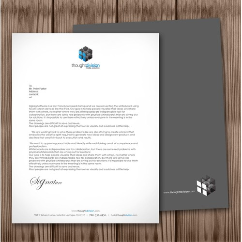 Letterhead for Production Company