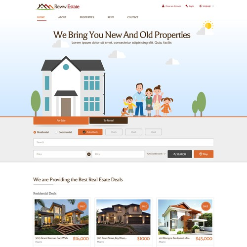 Design for Properties Website