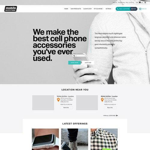 Mobile Outfitters Landing Page