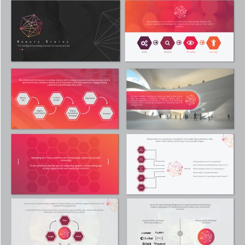 Stylish PowerPoint for an Exciting New Marketing Tech Startup