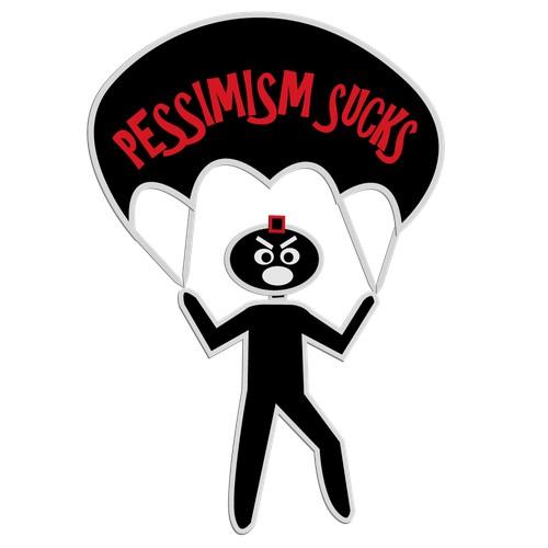 Pessimism Sucks Sky Diving Graphic