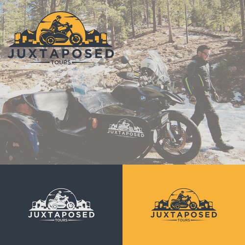 Juxtaposed Tours Logo Design
