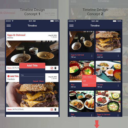 UI Design For Nutrition App.