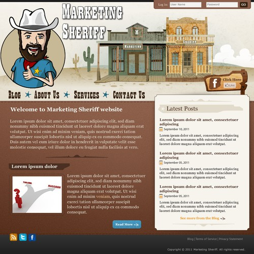 website design for Marketing Sheriff