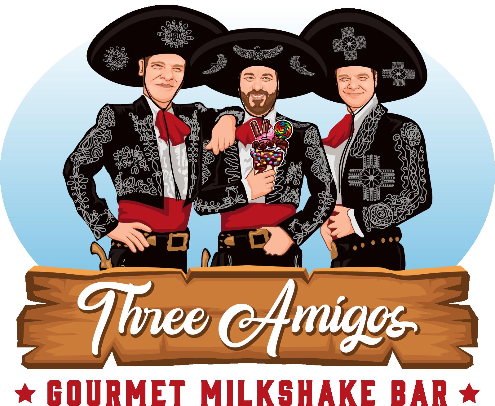 Needed...Logo for Gourtmet Milkshake Shop...Three Amigos!