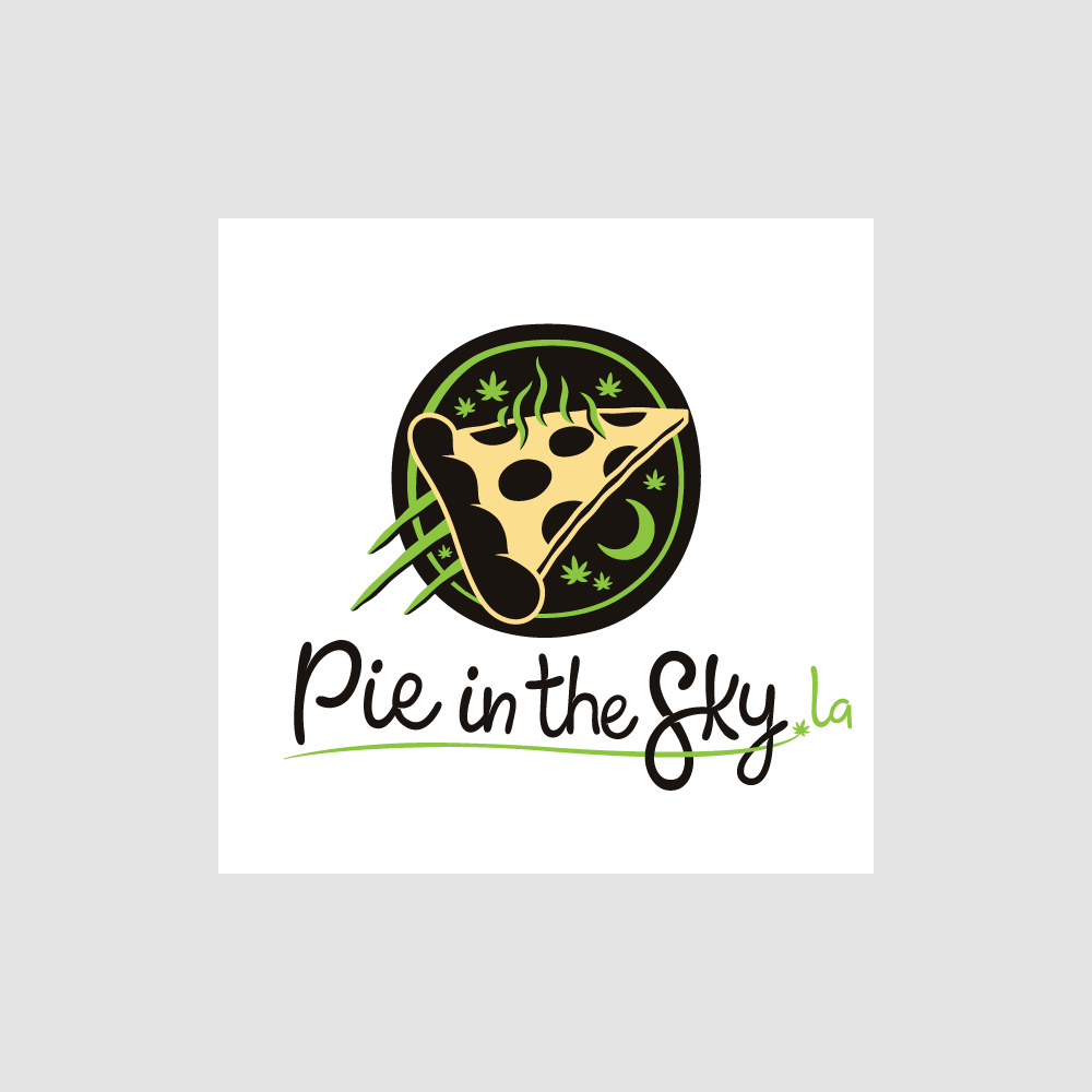 Cannabis / Marijuana Infused Pizza Shop Logo