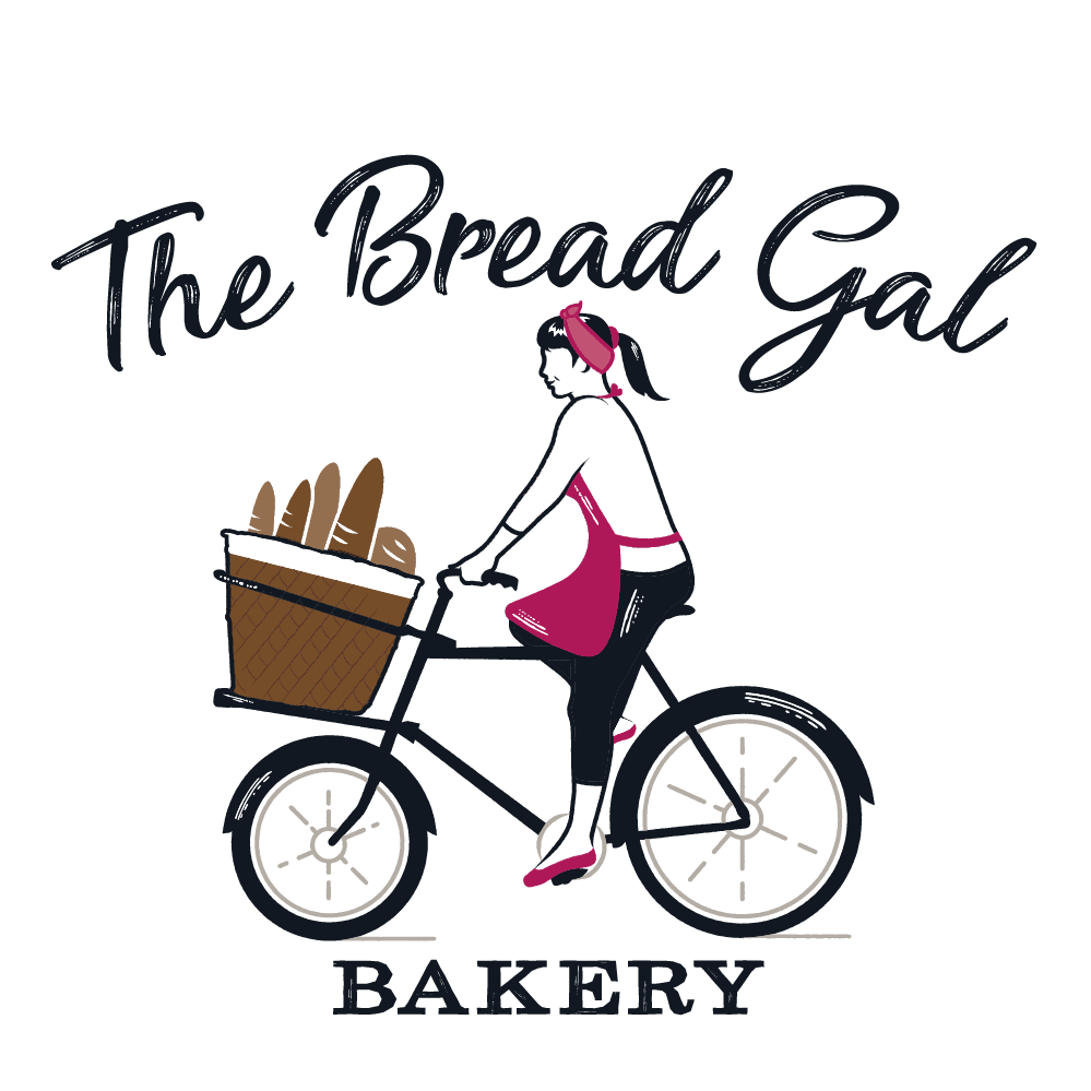 ReColoring Main Logo for The Bread Gal Bakery