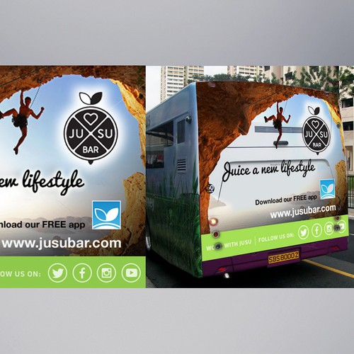 Jusu Bar Public Bus Advertising Designs