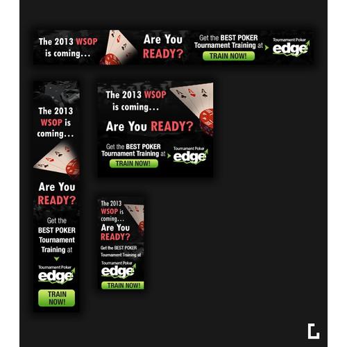 Banner Ad Design for Tournament Poker Edge