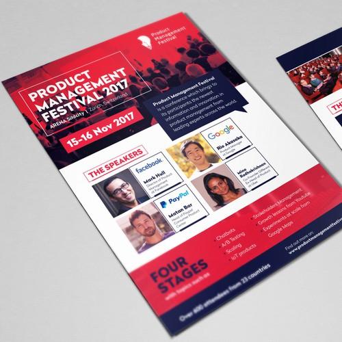 Flyer for Product Management Festival 2017
