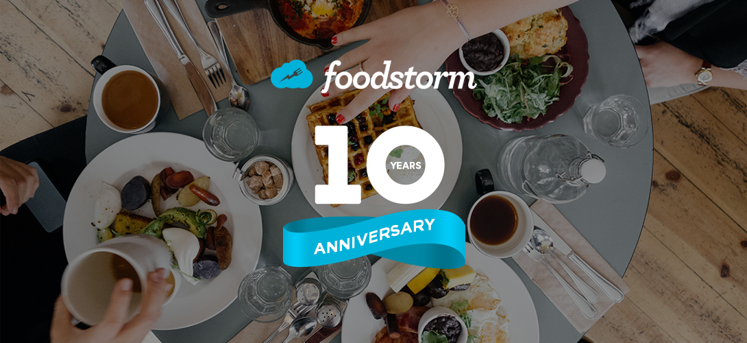 Design a banner to celebrate 10 Years of FoodStorm