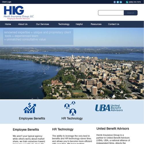 webpage design for Hemb Insurance Group